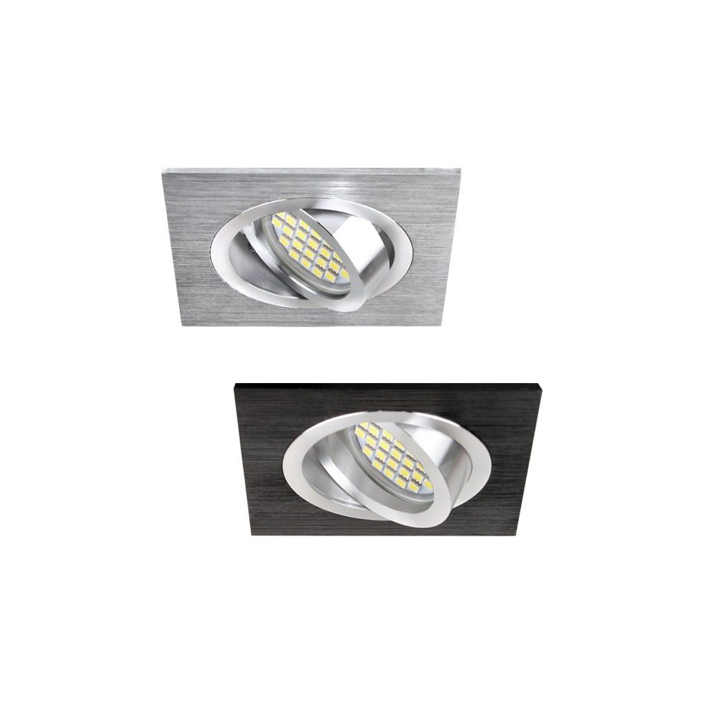 DESIGN LIGHT square adjustable downlight COSTA black
