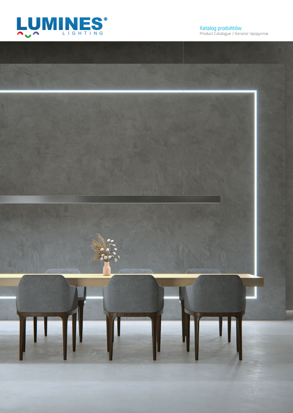Lumines lighting aluminium profiles, covers and accessories catalogue 2020 and 2021