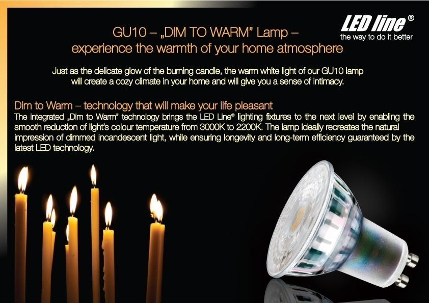 GU10 dim to warm lamp experience the warmth of your home atmosphere