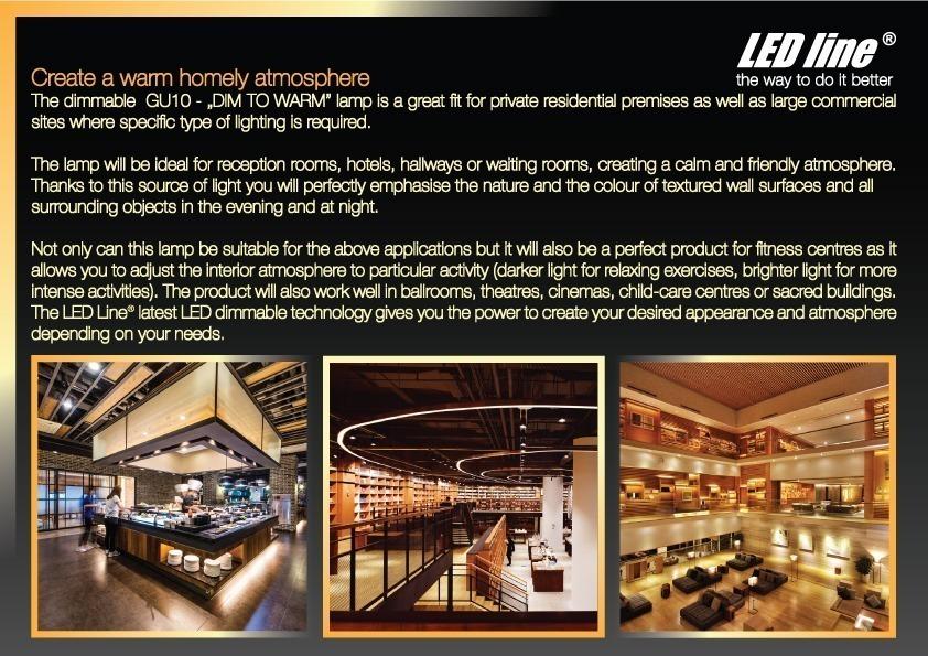 dimmable GU10 LED spotlight