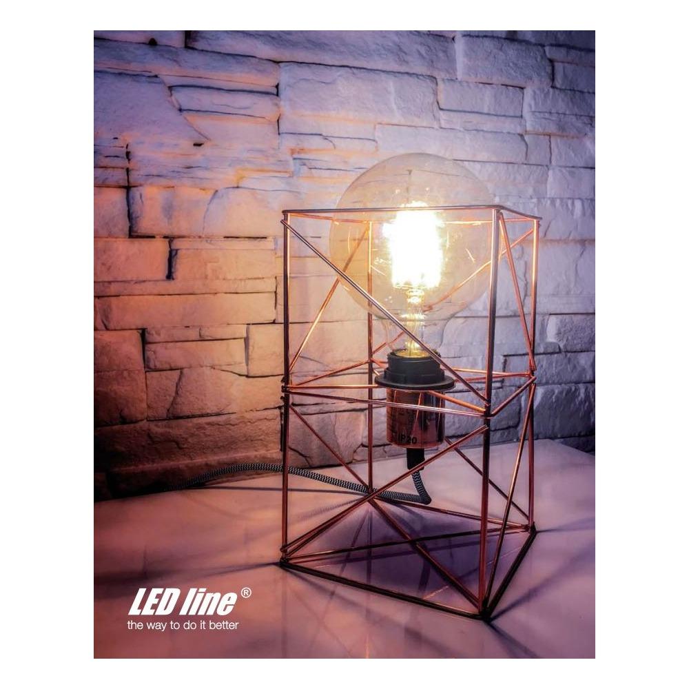 Led Line E27 Globe Ampoule G125 Filament 8w Blanc Chaud Moderne