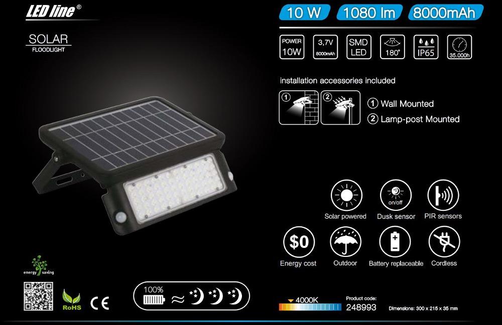 LED line® solar LED floodlight SMD 10W
