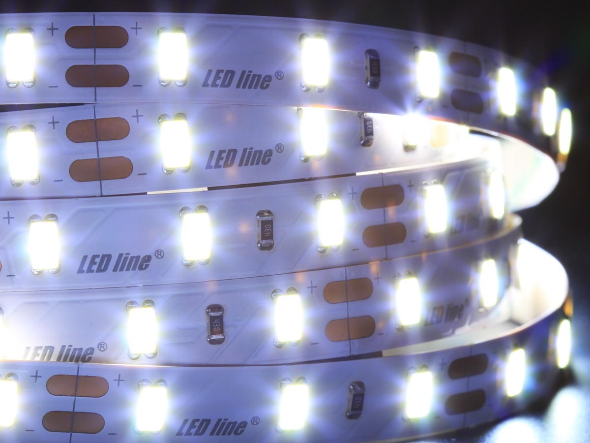 LED line® strip 5630 SMD 300 LED Samsung 12V cold white 11000K IP20