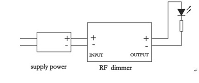 LED single colour strip dimmer DC12V DIM-3 connection LED strip connecting diagram