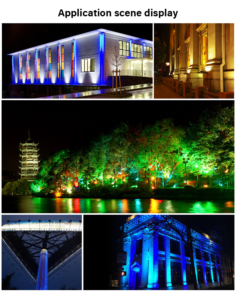 application scene display Mi-Light 100W RGB+CCT LED floodlight FUTT07 park garden outdoor