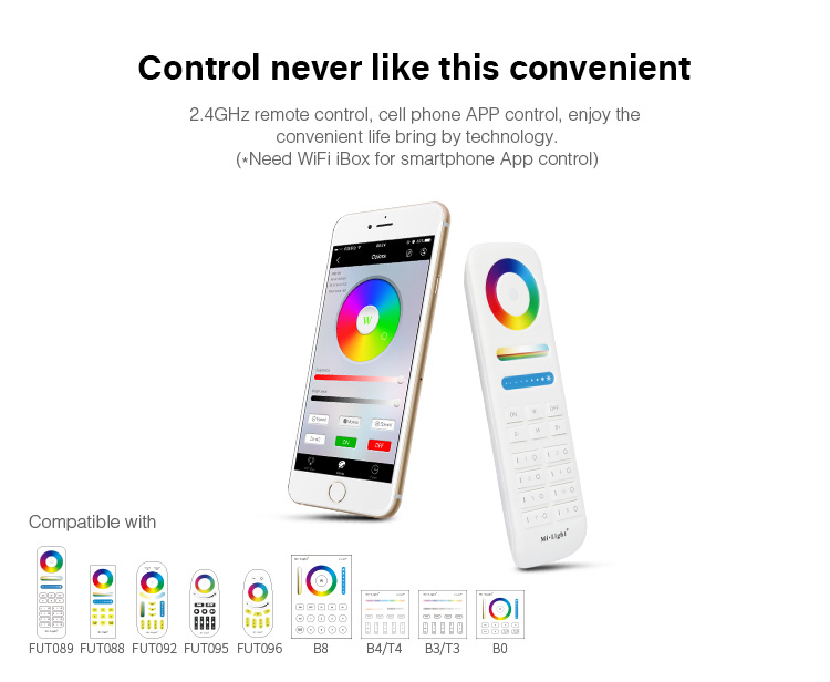 control never like this before convenient 2.4GHz remote or smartphone app control