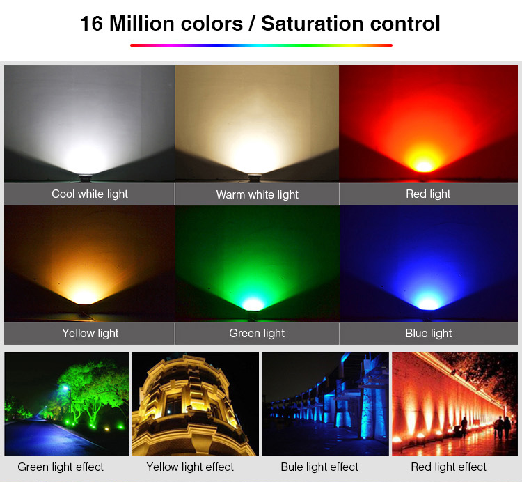 Light colours cold white, warm white, red, yello, green, blue, smart LED light effect