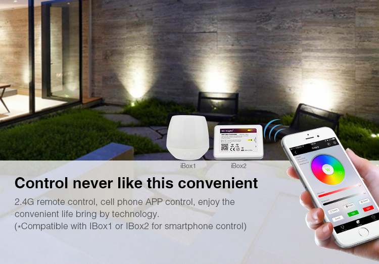 Control never like this convenient 2.4G remote control, mobile phone APP control smart house technology