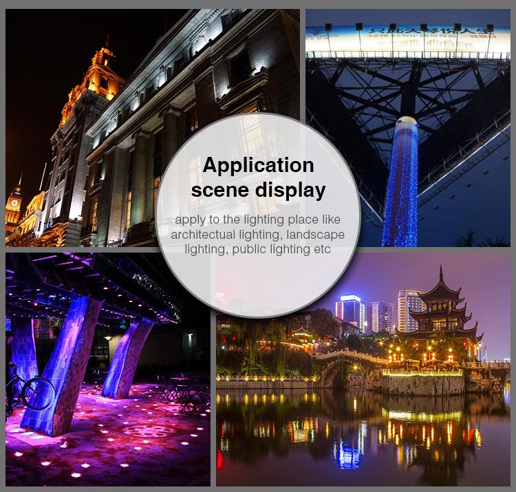 Application Scene Display Apply To The Lighting Place Like Architectual lighting, Landscape Lighting, Public Lighting