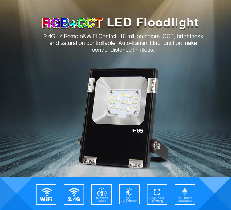 2.4GHz remote & Wi-Fi control, 16 million colours, CCT, brightness and saturation controlable