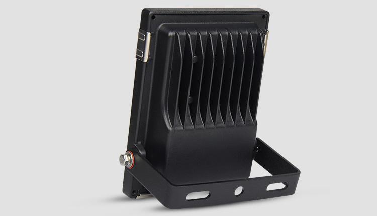 Mi-Light 10W RGB+CCT LED floodlight FUTT05 back aluminium heat sink black housing
