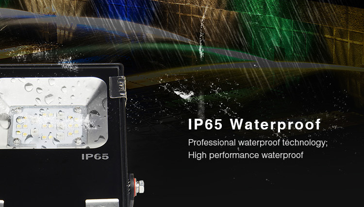 Outdoor smart LED floodlight Mi-Light 10W RGB+CCT LED floodlight FUTT05 IP65 waterproof technology