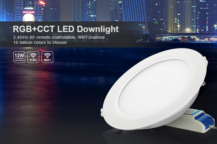 RGB+CCT LED downlight smart remote controlled ceiling light