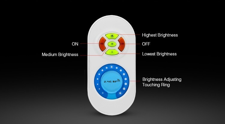 hand held remote milight buttons white features diagram