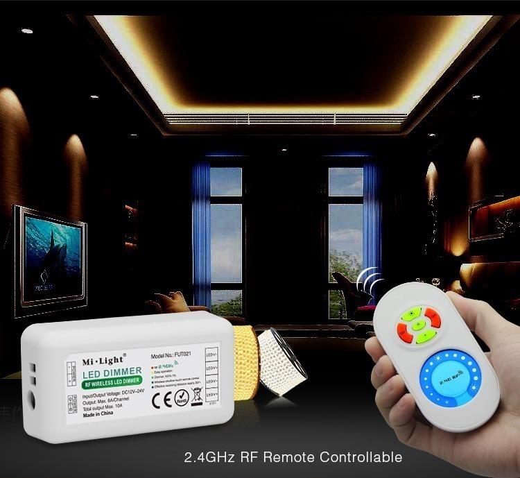 Mi-Light LED strip dimmer 3528 2835 5050 5630 SMD single colour diodes