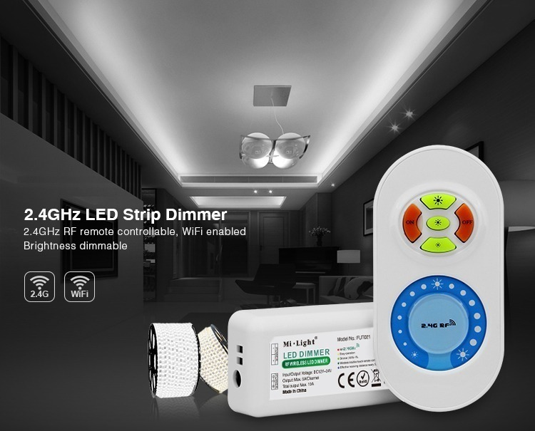 2.4GHz WiFi LED strip dimmer quick and simple easy installation milight