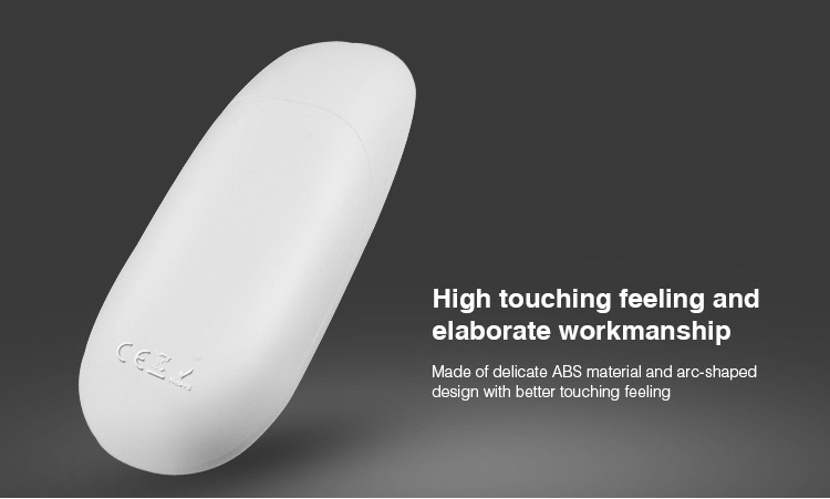 made of dedicated ABS material and aro-shaped design with better touch feeling