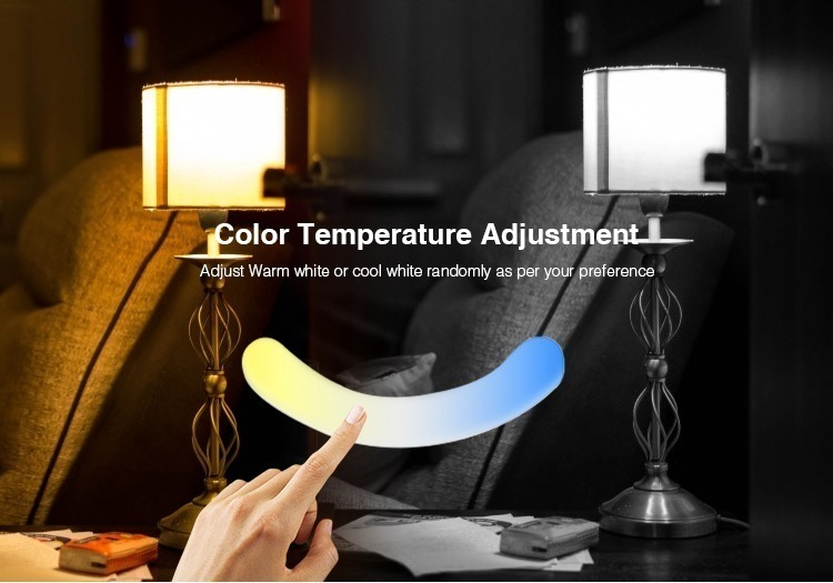 Mi-Light 2.4GHz dual full touch 4-zone remote controller FUT091 colour temperature adjusment