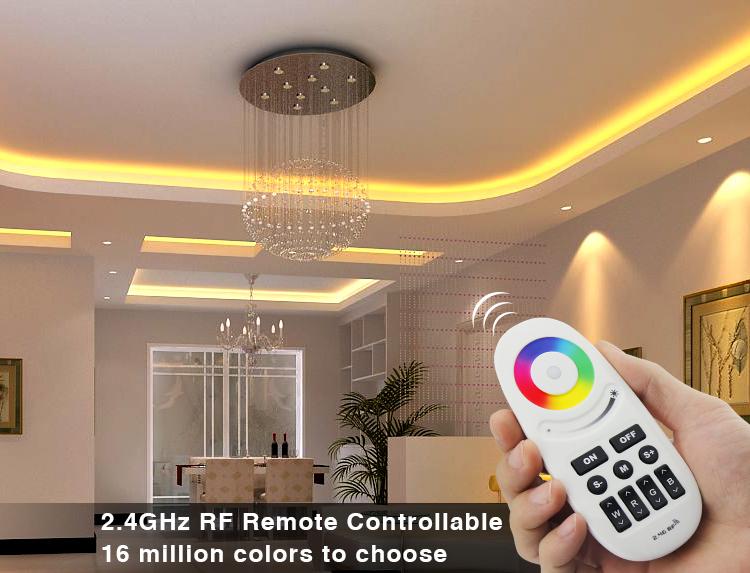 Mi-Light 2.4GHz manual & auto adjustable RGBW strip controller FUT028 16 million colours