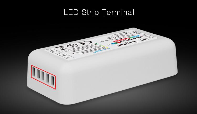 Mi-Light 2.4GHz manual & auto adjustable RGBW strip controller FUT028 LED strip terminal