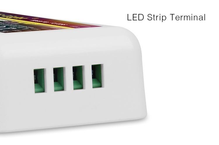 Mi-Light 2.4GHz multi white wireless WiFi dimmer FUT036 LED strip connection terminals