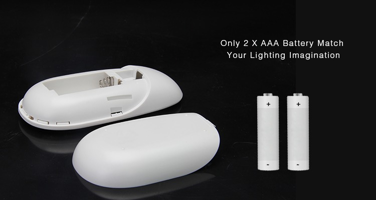 only 2 x AAA batteries match your lighting imagination