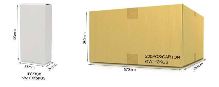 cardboard box dimensions shipping packaging