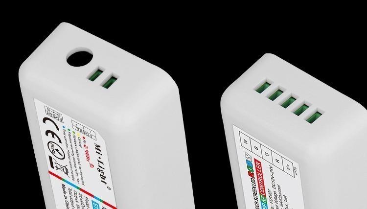 connection terminals input output Mi-Light smart lighting RGBW controller receiver