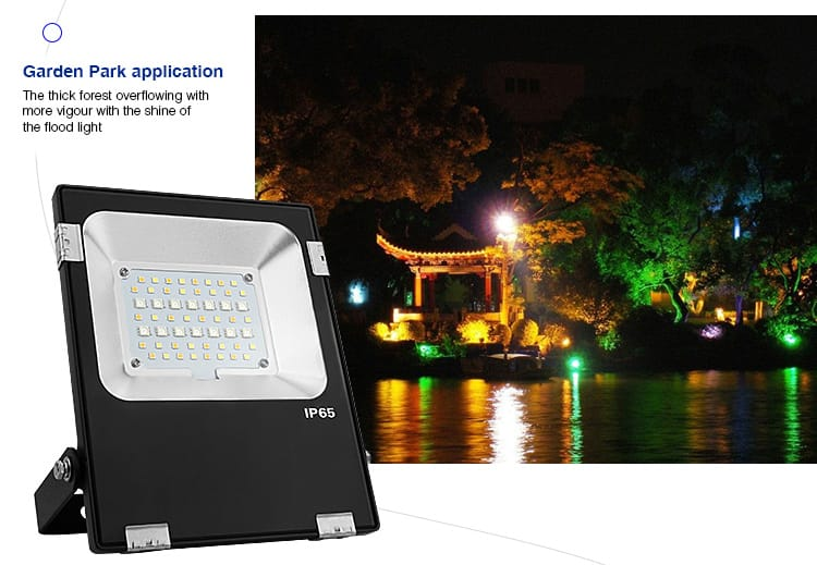 garden park application outdoor LED smart RGB+CCT floodlight Mi-Light lighting