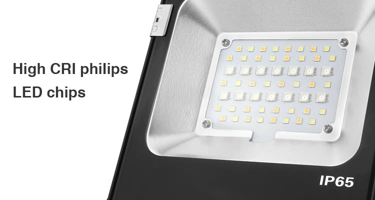 high CRI Philips LED chips IP65 smart lighting floodlight