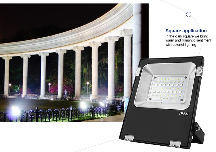 square application outdoor LED smart RGB+CCT floodlight MiLight