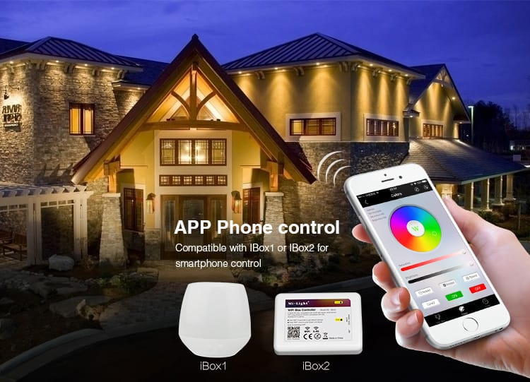 smartphone app control compatible with iBox1 and iBox2 smart LED floodlight