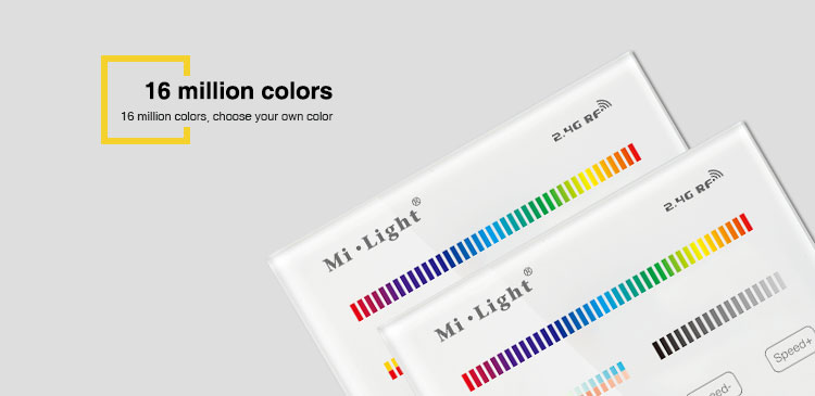 16 million colours beautiful design smart home that everyone will be jelous of RF technology