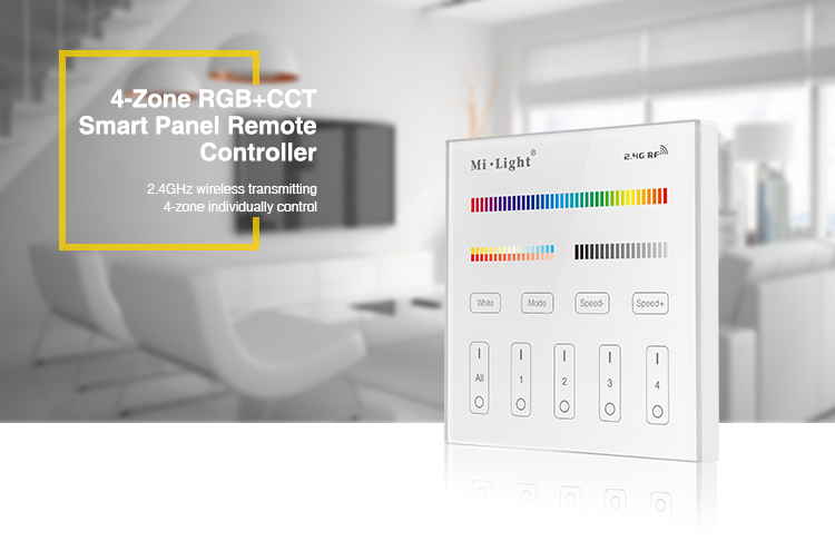 4-zone RGBCCT smart panel remote controller mains operated 2.4GHz worth to try