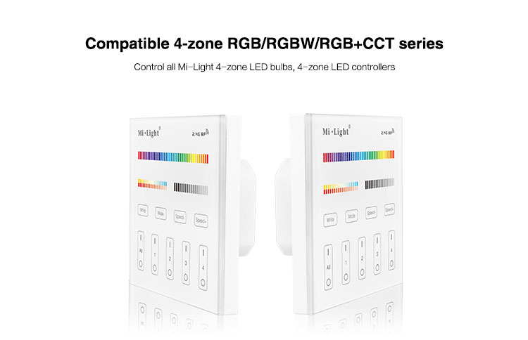 this product is highly compatible with all Mi-Light products manufactured by futlight in China RGB RGBW RGBCCT wall panel mains powered