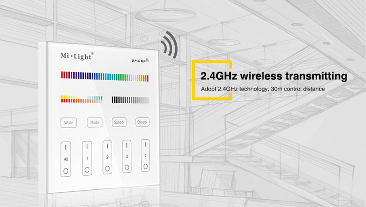 2.4GHz wireless transmitting function technology that matters and it is very convinient and easy to use