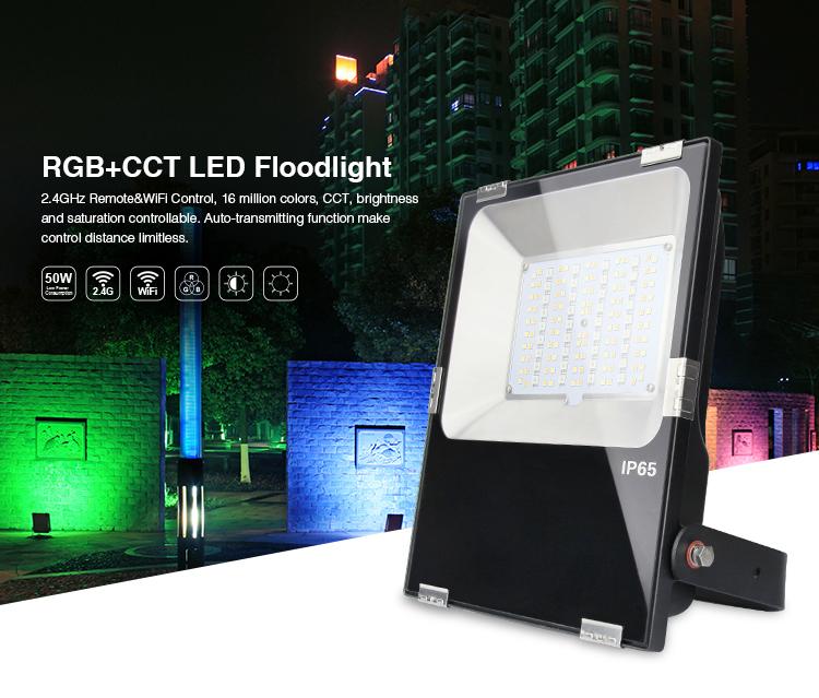 RGB+CCT LED floodlight RGBWW WiFi outdoor lamp