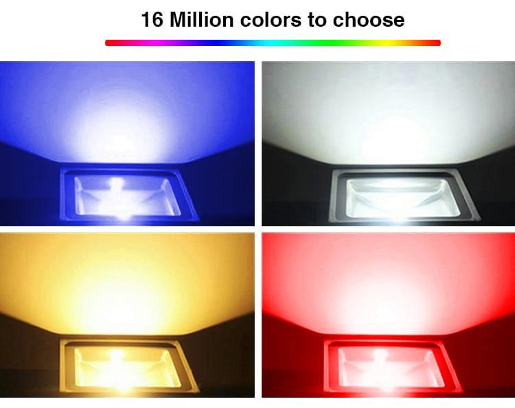 16 million colours to choose LED RGB CCT smart floodlight