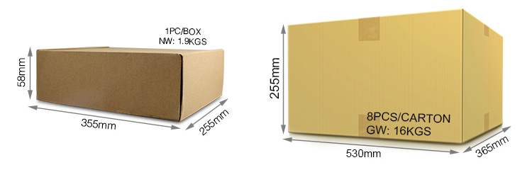 Mi-Light 50W RGB+CCT LED floodlight FUTT02 smart lamp packaging original retail colour box wholesale cardboard box