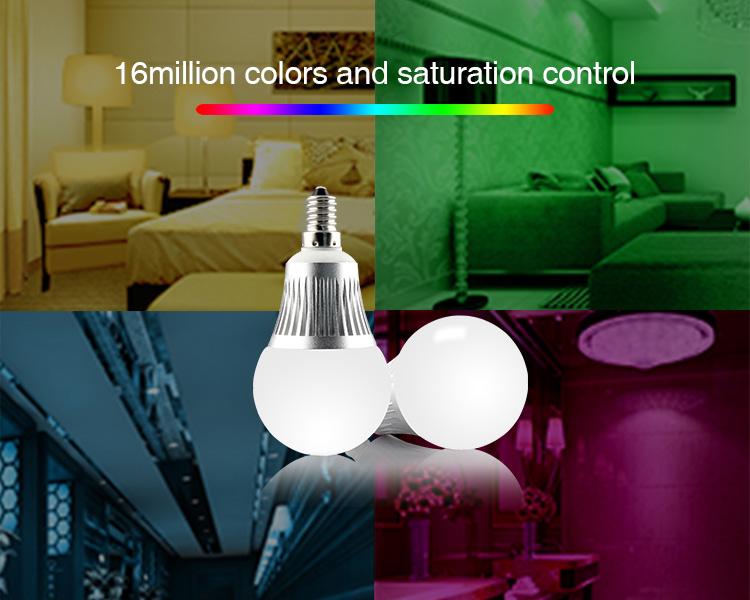 Mi-Light 5W E14 RGB+CCT LED light bulb FUT013 multicolour 16 million colours