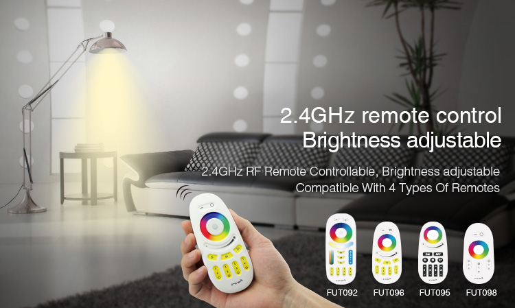 Mi-Light 5W E14 RGB+CCT LED light bulb FUT013 remote control brightness adjustable