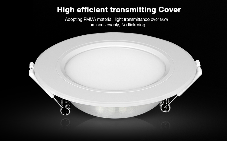 smart LED aluminium downlight laying flat on the surface high efficient transmitting cover PMMA no flickering