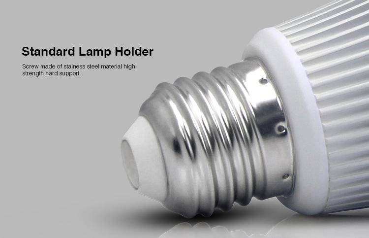 Mi-Light 8W DMX512 RGB+CCT LED light bulb FUTD03 standard E27 lamp base holder