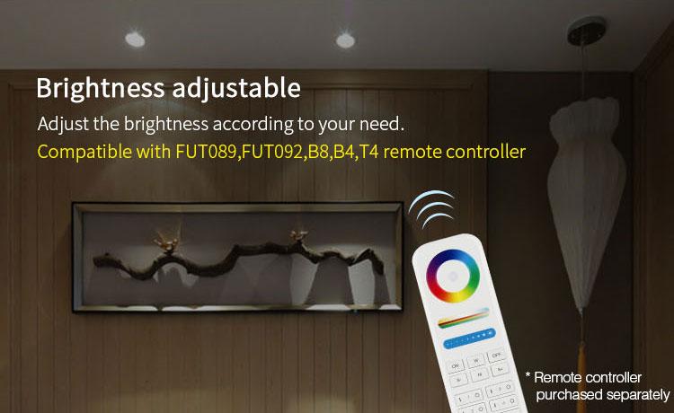 Mi-Light 9W RGB+CCT LED ceiling spotlight FUT062brightness adjustable