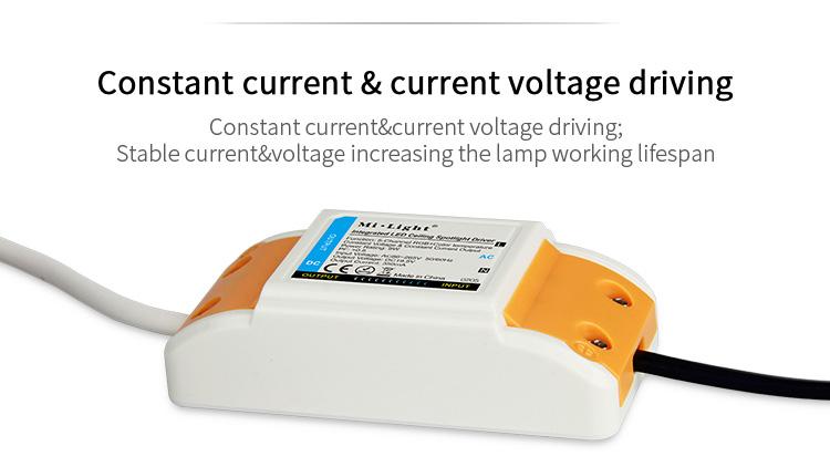 Mi-Light 9W RGB+CCT LED ceiling spotlight FUT062 constant current voltage driver
