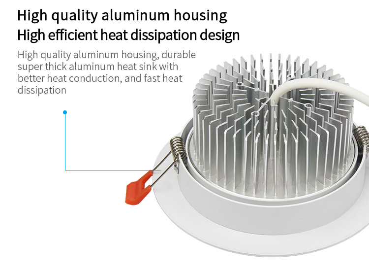 Mi-Light 9W RGB+CCT LED ceiling spotlight FUT062 high quality aluminium housing