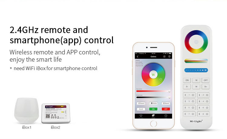 Mi-Light 9W RGB+CCT LED ceiling spotlight FUT062 compatible remote controllers app control