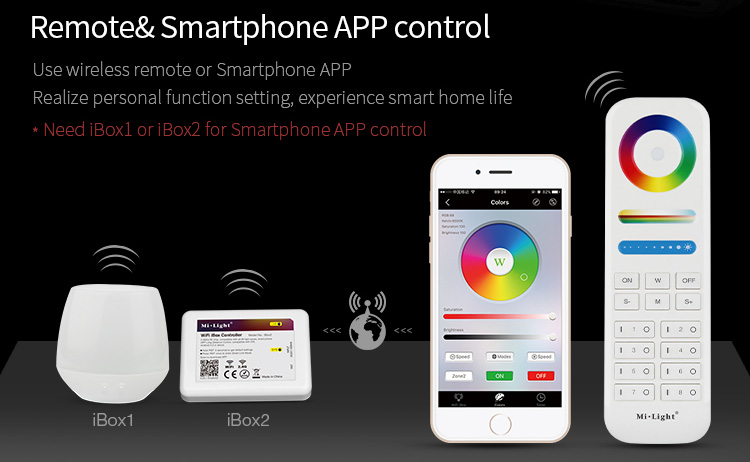 remote & smartphone app control wireless smart home automation