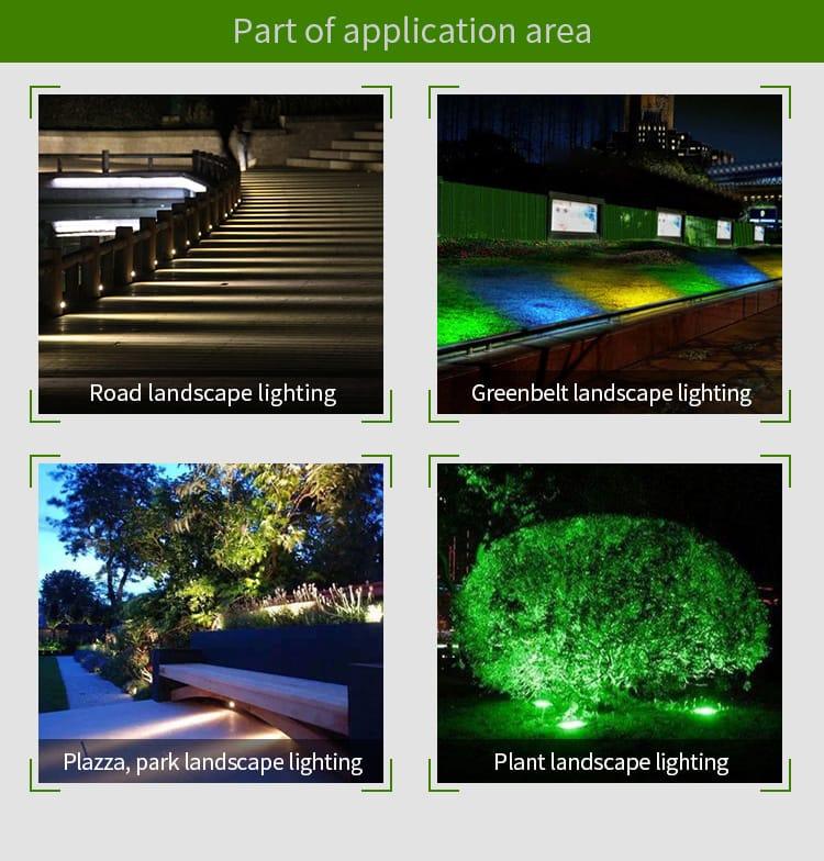 smart milight garden lighting application outdoor parks plants trees bushes