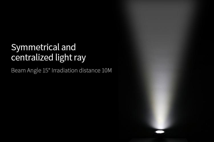 narrow vieving angle precise illumination symmetrical light ray beam angle 15 degree